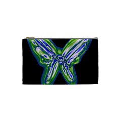 Green neon butterfly Cosmetic Bag (Small)
