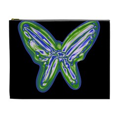 Green neon butterfly Cosmetic Bag (XL)