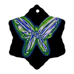 Green neon butterfly Ornament (Snowflake)