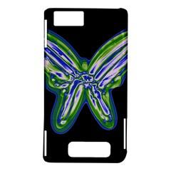 Green neon butterfly Motorola DROID X2