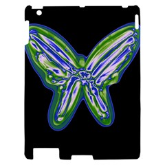 Green neon butterfly Apple iPad 2 Hardshell Case