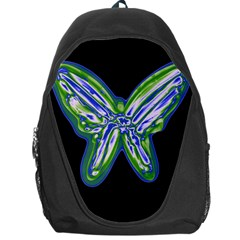 Green neon butterfly Backpack Bag