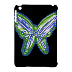 Green neon butterfly Apple iPad Mini Hardshell Case (Compatible with Smart Cover)
