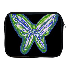 Green neon butterfly Apple iPad 2/3/4 Zipper Cases