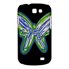 Green neon butterfly Samsung Galaxy Express I8730 Hardshell Case