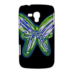 Green neon butterfly Samsung Galaxy Duos I8262 Hardshell Case