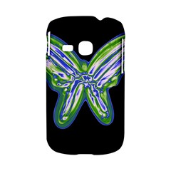 Green neon butterfly Samsung Galaxy S6310 Hardshell Case