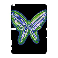 Green neon butterfly Samsung Galaxy Note 10.1 (P600) Hardshell Case