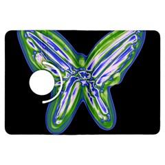 Green neon butterfly Kindle Fire HDX Flip 360 Case