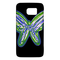 Green neon butterfly Galaxy S6