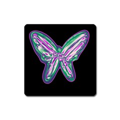 Neon butterfly Square Magnet