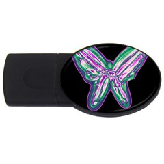 Neon butterfly USB Flash Drive Oval (4 GB)