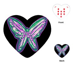 Neon Butterfly Playing Cards (heart)