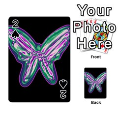 Neon butterfly Playing Cards 54 Designs