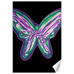 Neon butterfly Canvas 12  x 18