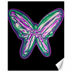 Neon butterfly Canvas 11  x 14