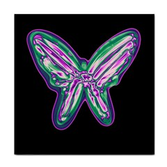 Neon butterfly Face Towel