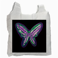Neon butterfly Recycle Bag (One Side)