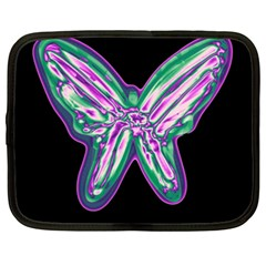 Neon butterfly Netbook Case (XXL)
