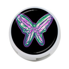 Neon butterfly 4-Port USB Hub (Two Sides)