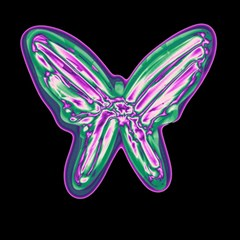 Neon butterfly Magic Photo Cubes
