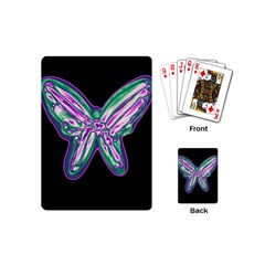 Neon butterfly Playing Cards (Mini)