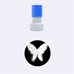 Neon butterfly Rubber Round Stamps (Small)