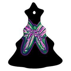 Neon butterfly Christmas Tree Ornament (2 Sides)