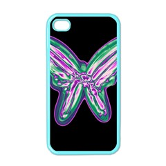 Neon butterfly Apple iPhone 4 Case (Color)