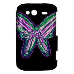 Neon butterfly HTC Wildfire S A510e Hardshell Case