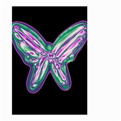 Neon butterfly Small Garden Flag (Two Sides)