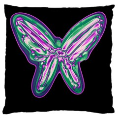Neon butterfly Large Cushion Case (One Side)