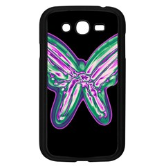 Neon butterfly Samsung Galaxy Grand DUOS I9082 Case (Black)