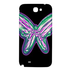 Neon butterfly Samsung Note 2 N7100 Hardshell Back Case
