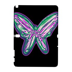 Neon butterfly Samsung Galaxy Note 10.1 (P600) Hardshell Case