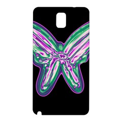 Neon butterfly Samsung Galaxy Note 3 N9005 Hardshell Back Case