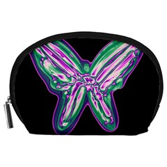 Neon butterfly Accessory Pouches (Large)