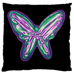 Neon butterfly Large Flano Cushion Case (Two Sides)