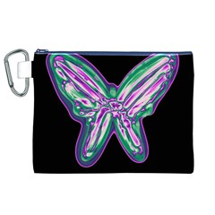 Neon butterfly Canvas Cosmetic Bag (XL)
