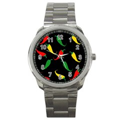 Chili peppers Sport Metal Watch