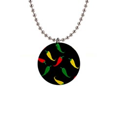 Chili peppers Button Necklaces