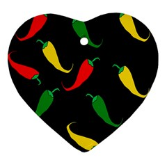 Chili peppers Heart Ornament (2 Sides)