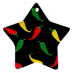 Chili peppers Star Ornament (Two Sides)