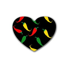 Chili peppers Heart Coaster (4 pack)