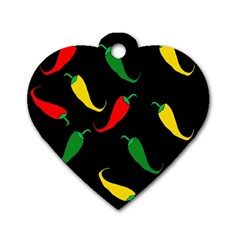 Chili peppers Dog Tag Heart (One Side)