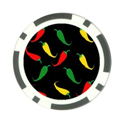 Chili peppers Poker Chip Card Guards (10 pack)