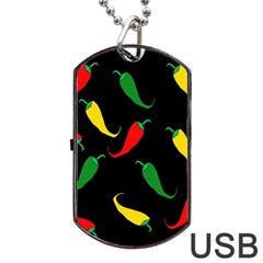 Chili peppers Dog Tag USB Flash (One Side)