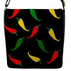 Chili peppers Flap Messenger Bag (S)