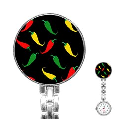 Chili Peppers Stainless Steel Nurses Watch