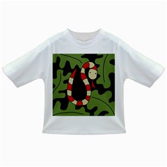 Red cartoon snake Infant/Toddler T-Shirts